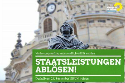 Bündnis 90/Die Grünen Staatsleistungen ablösen